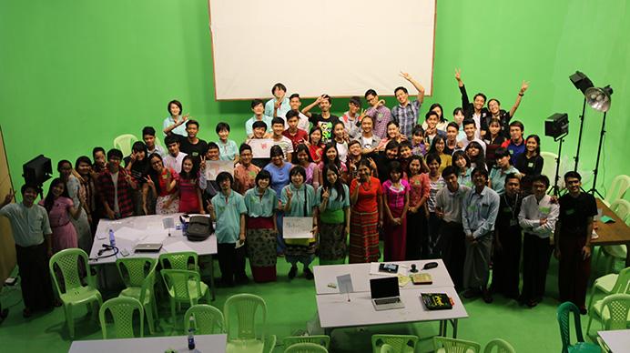 ミャンマーでアニメーションワークショップを開催!